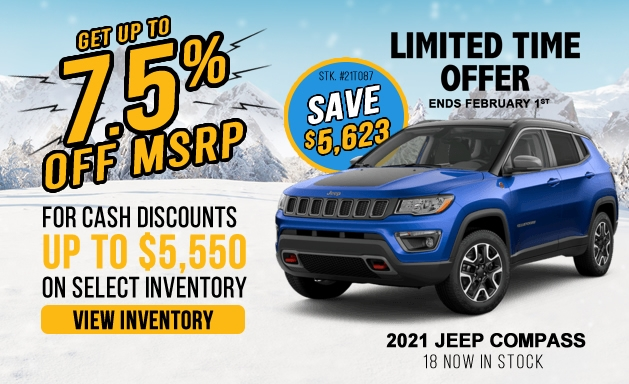 Jeep Compass discounts and offers